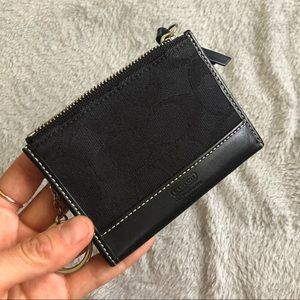Coach keychain wallet Signature & genuine leather